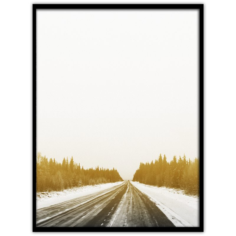 Vinterväg i Norrland