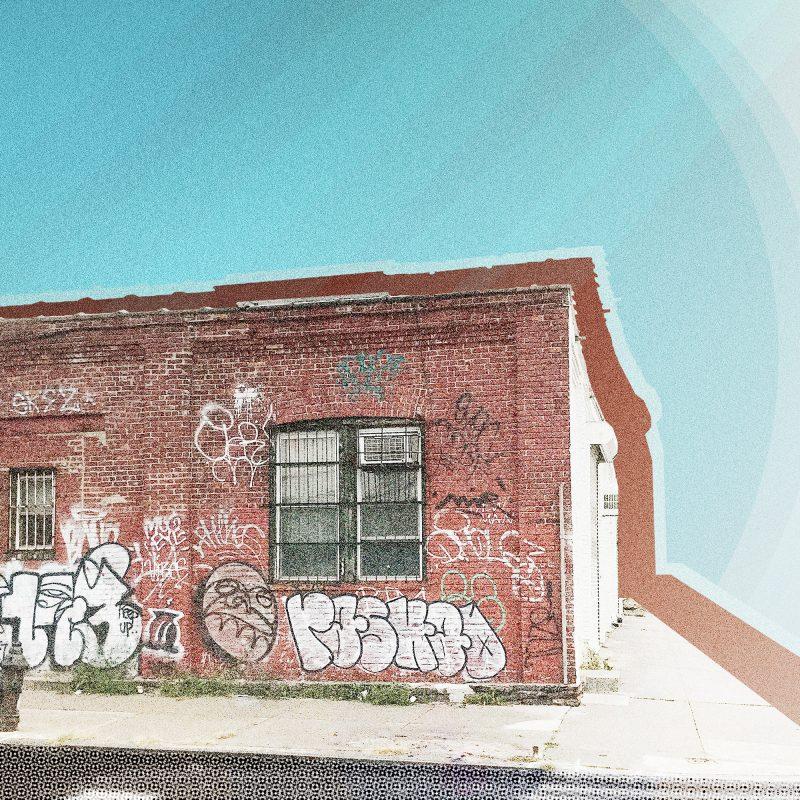 Hus med graffiti