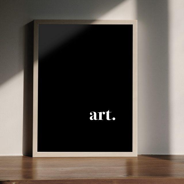 Art. |Enkel och stilfull, På svart bakgrund.