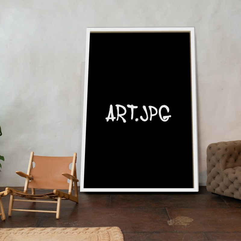 Art | Graffiti style (svart bakgrund/vit text)