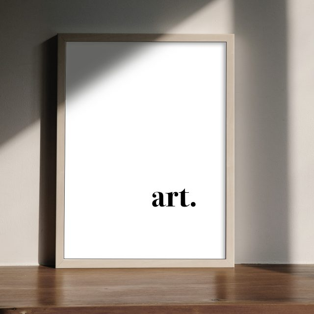 Art. |Poster with the text are, fun, provocative