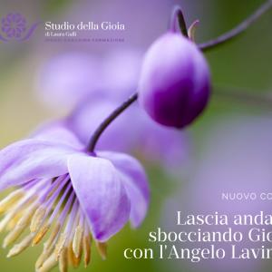 Lascia andare sbocciando Gioia con l'Angelo Lavinia