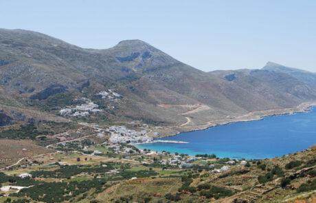 View over Aegiali Bay Amorgos