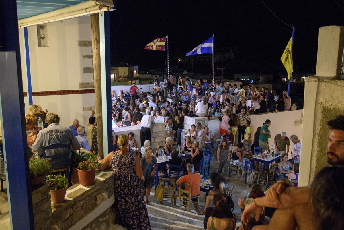 Festival of the Church Agion Anargiron in Tholaria