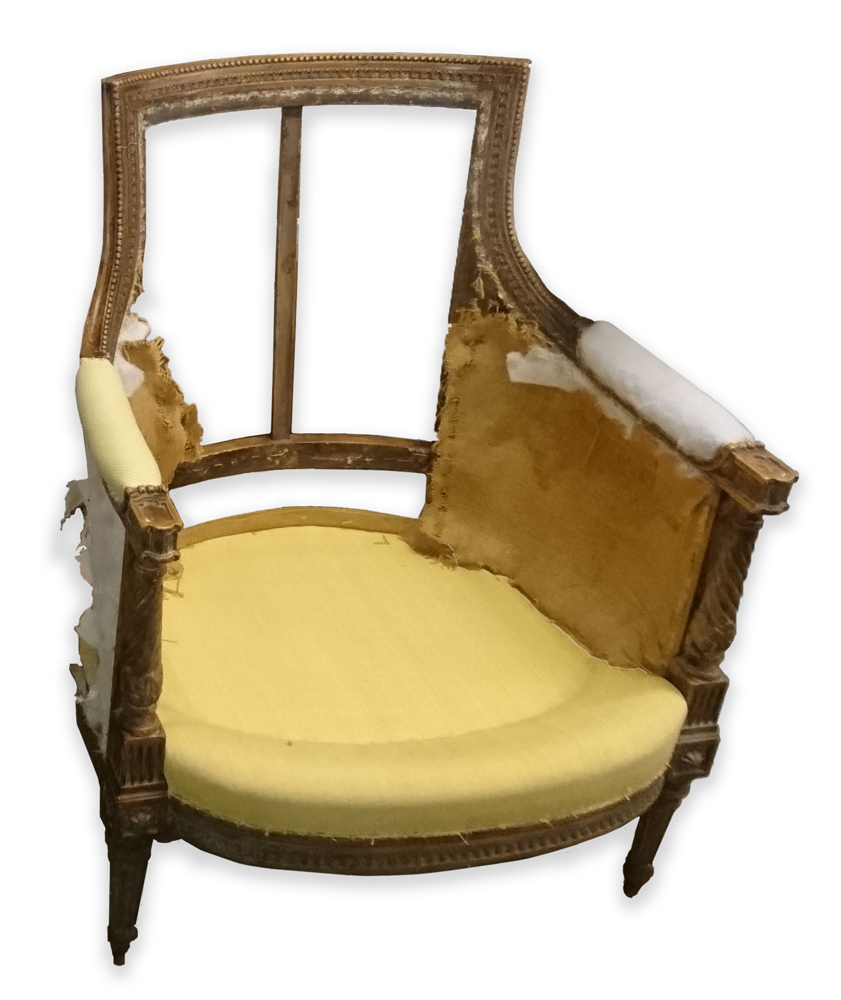 French Tub Chair - Before Recovery