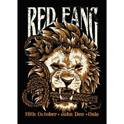 product photo of gig poster for Red Fang and Torche in Oslo, 2016