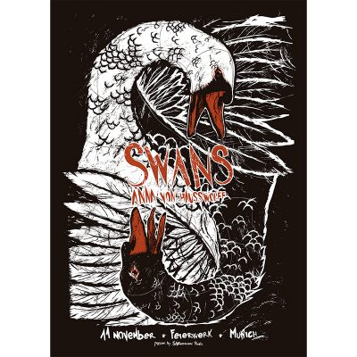 product photo of gig poster for Swans in Munich, 2016