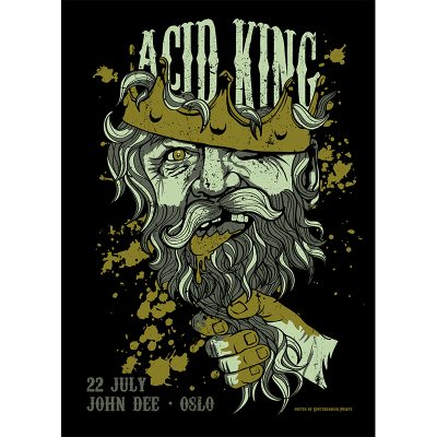 design of gig poster for Acid King, Oslo 2017