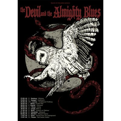 picture of Tour poster for The Devil and the Almighty Blues