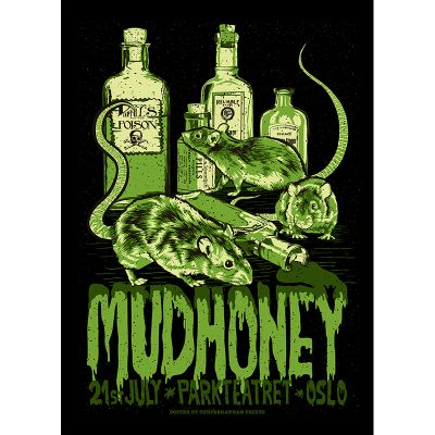 design of gig poster for Mudhoney, Oslo 2016