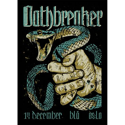 design of gig poster for Oathbreaker, Oslo 2016