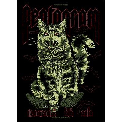 design of gig poster for Pentagram, Oslo 2016