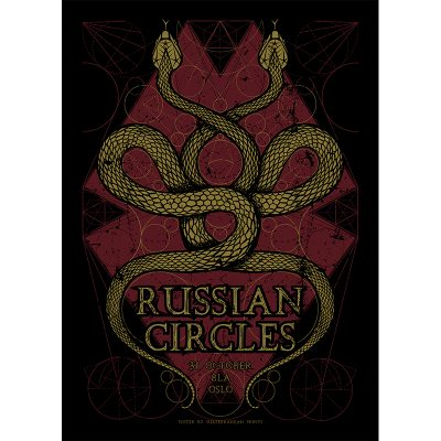 design of gig poster for Russian Circles, Oslo 2016