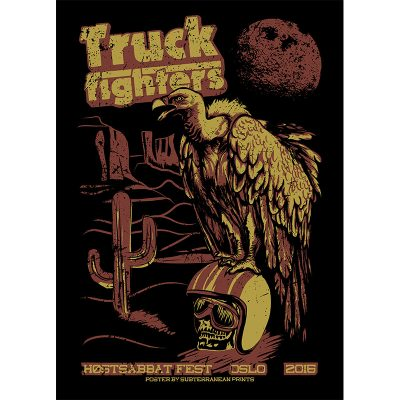 design of gig poster for Truckfighters, Oslo 2016
