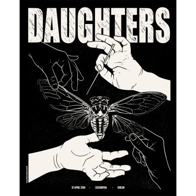 Gig poster for Daughters in Berlin, 2019