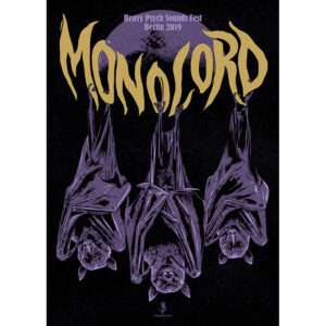 Gig poster for Monolor, Berlin 2019