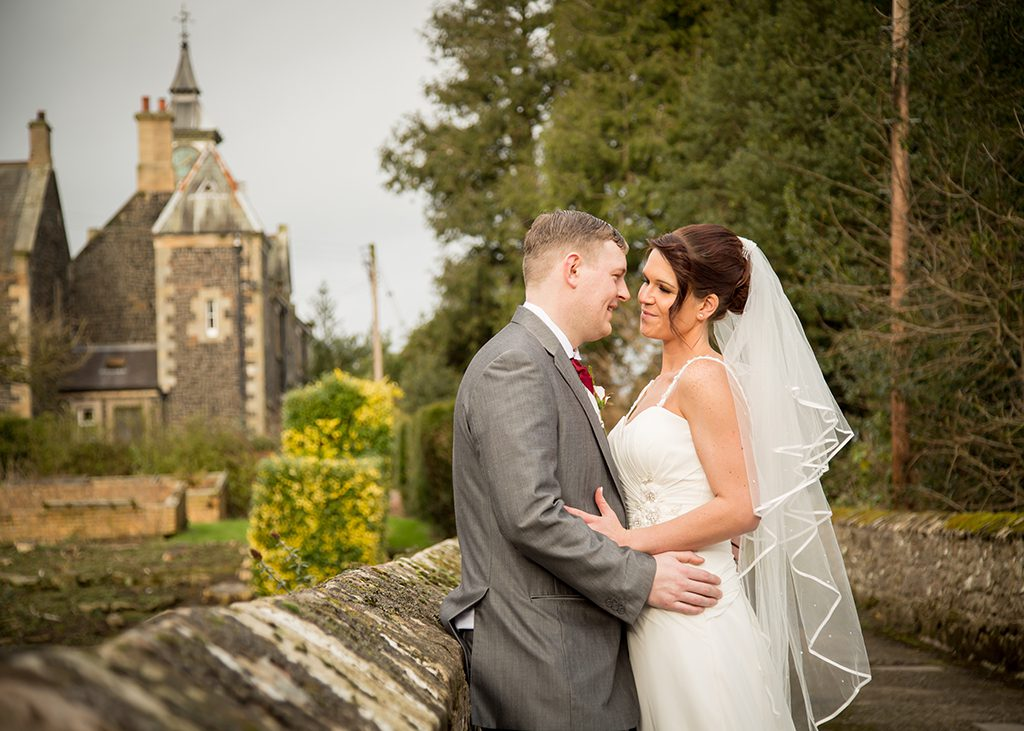 middleton hall belford wedding couple