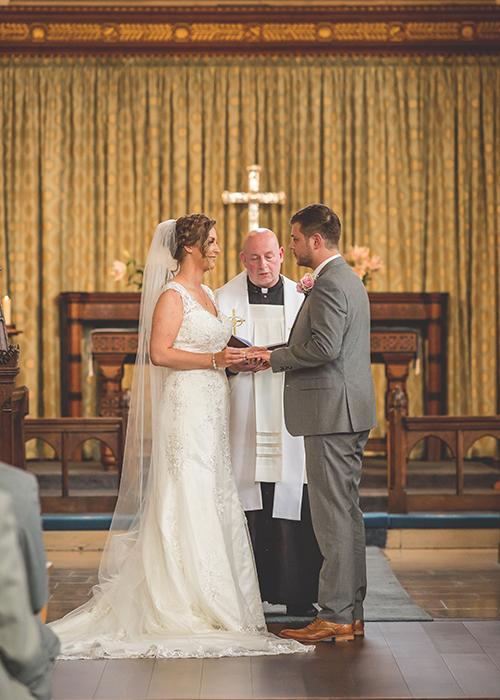 wedding photos St James and St Basils Church
