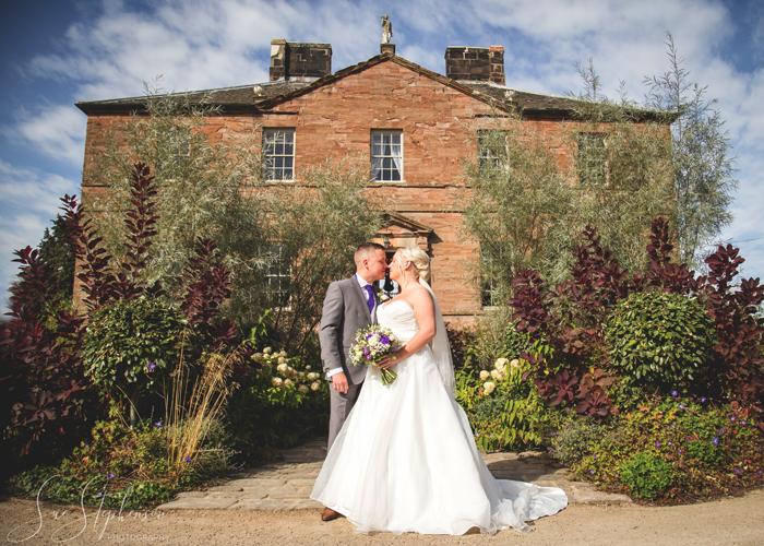 bride and groom newton hall