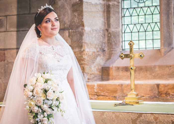 bride at altar