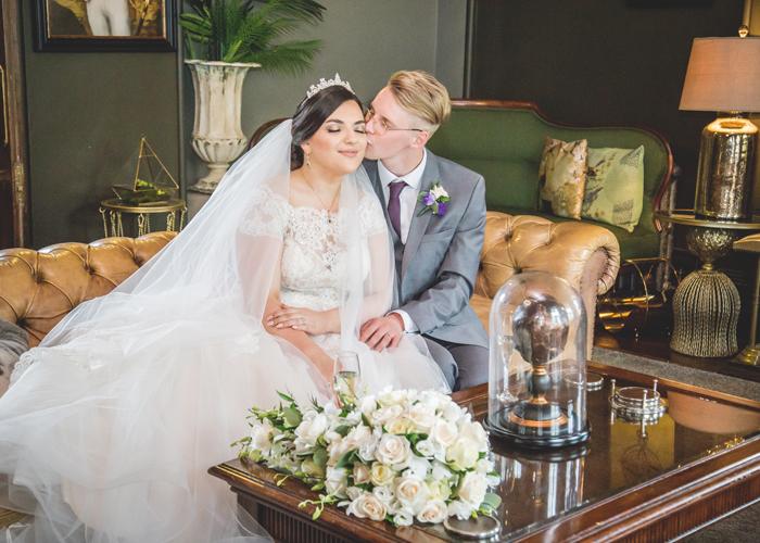 bride groom ellingham hall lounge