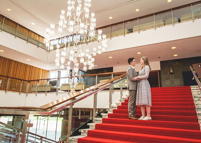 brides-civic centre stairs chandelier