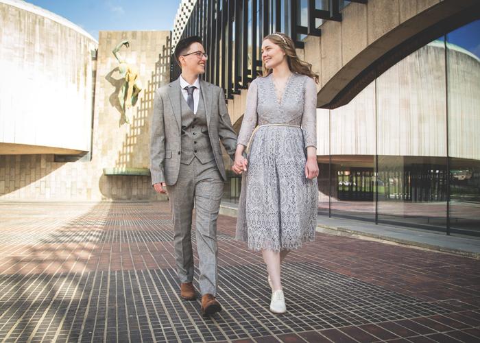 brides walking river god tyne