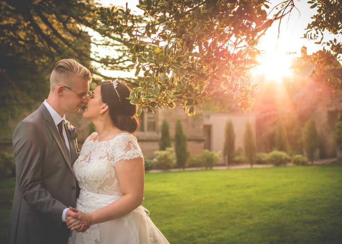 ellingham hall wedding sunset