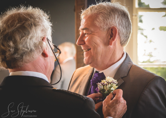father of bride buttonhole