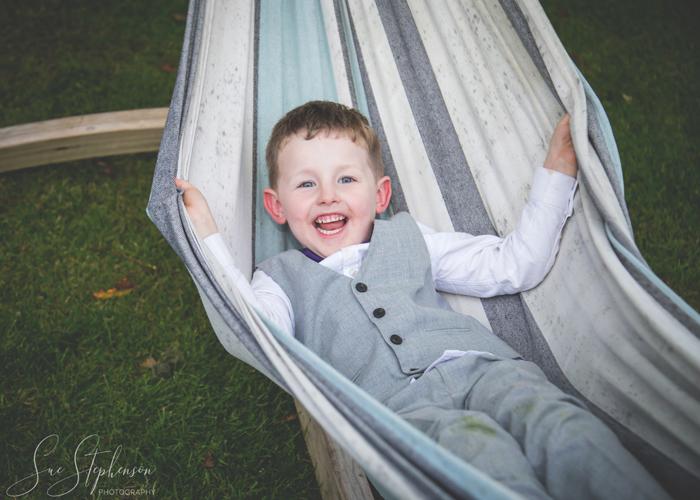 page boy in hammock
