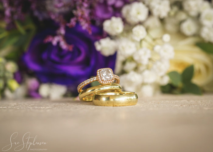 wedding rings boquet