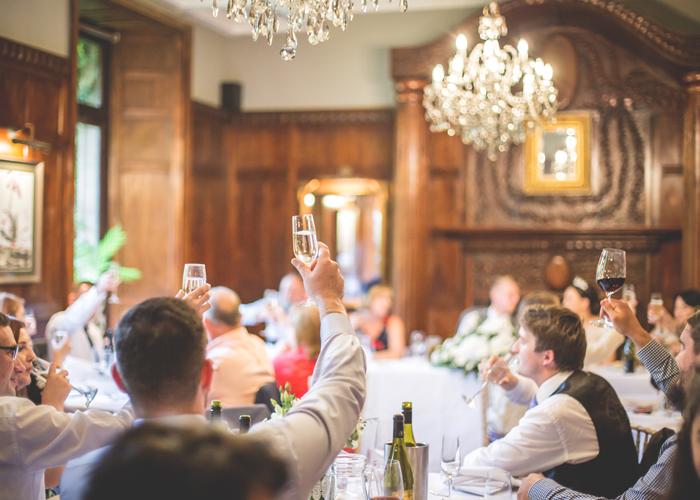 wedding toast champagne