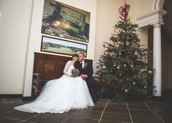 backworth hall christmas wedding