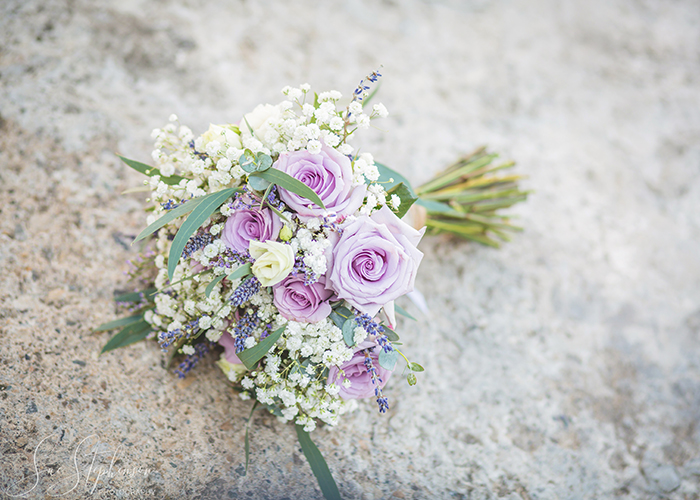 wedding light purple boquet