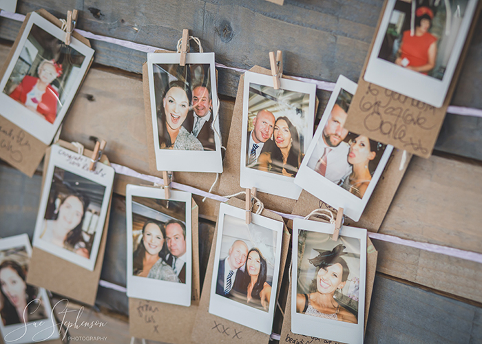 polaroid photographs of guests