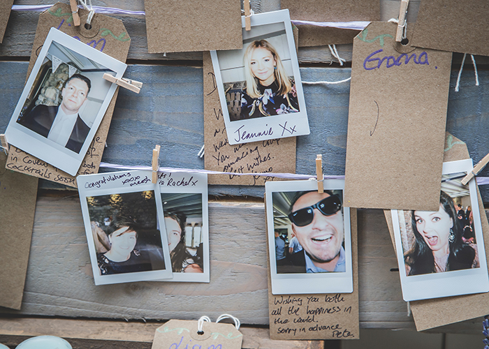 polaroid photos of guests