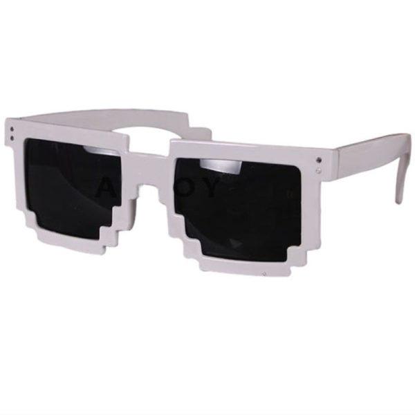Hvid 8-BIT Solbriller.