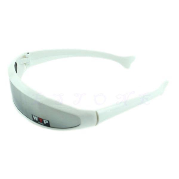 Solbrille med sølvfarvet spejlglas