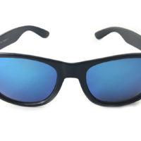 Wayfarer solbriller med blåt spejlglas