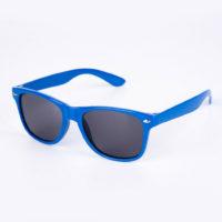 Blå Wayfarer solbrille med sort glas til børn