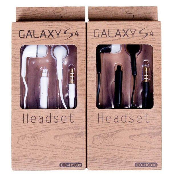 Headset til Galaxy S4 i hvid eller sort 1