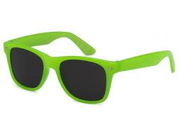 Grøn Wayfarer solbrille med sort glas til børn