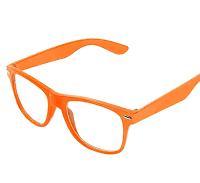 Orange wayfarer solbriller med klart glas