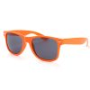 orange Wayfarer solbriller med sort glas