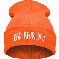 "Neon orange hue ""Bad hair day"""