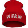 "Rød hue""Bad hair day"""