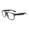 Sorte Wayfarer briller med klart glas