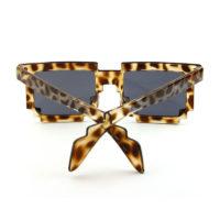 Leopardfarvet 8-BIT Solbriller.