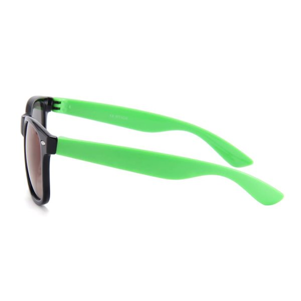 Sort Wayfarer brille med grønne stænger