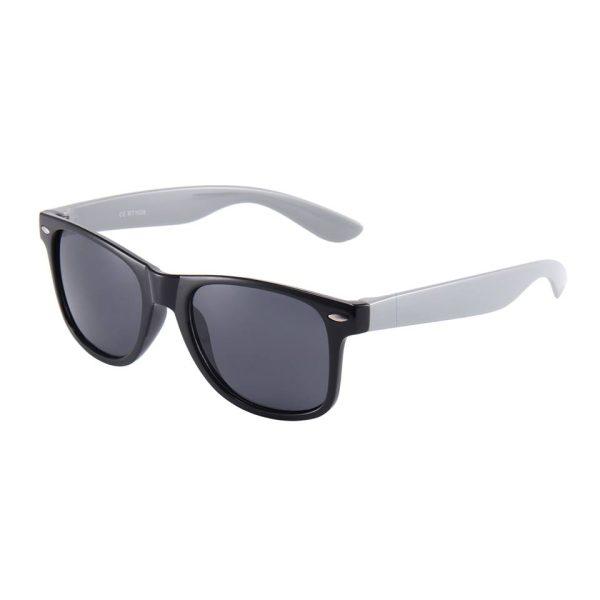 Sort Wayfarer brille med grå stænger